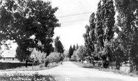 """Residential Street; Chapman Camp."""