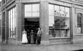 BC Grocery and Bakery, John Draut, proprietor; Stelly Block, corner of Johnson and Blanshard Stre...