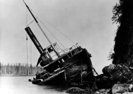 Wreck Of The SS Beaver At Prospect Point, Vancouver.