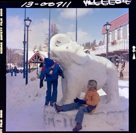 Snow Sculptures At Winterfest In Kimberley