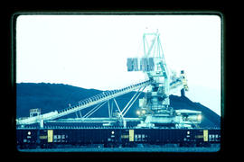 Ridley coal port; stack/reclaim and train.
