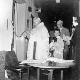 Blessing the elevator, St. Martin's Hospital, Vernon