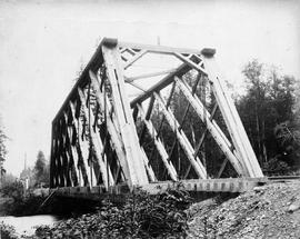 A truss near Port Moody; from Onderdonk albums.