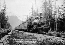 """G.T.P. first passenger train from Prince Rupert, mile 33, June 14th 1911"""