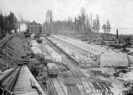"""100 coke ovens under construction""; Union Bay"