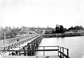 Second James Bay Bridge, Victoria; Shows David Spencer House  At Foot Of Bridge On Left.