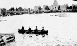 Rowing In The Inner Harbour, Victoria