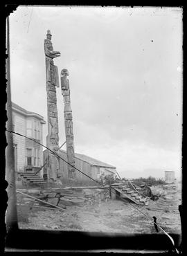 Queen Charlotte totem poles