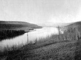 The Peace River; a few miles from Dunvegan; between Fort St. John and Rocky Mountain Portage