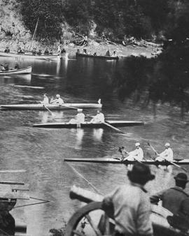 Rowing Races On The Gorge, Victoria.