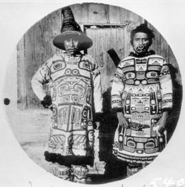 Alaskan First Nations in full dress.