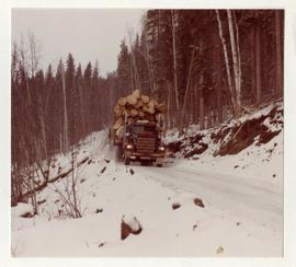 Loaded Logging Truck Fort Nelson Area