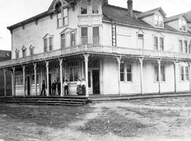 """Arlington Hotel""; near the Canadian Pacific Railway wharf and on Main Street in Slocan..."