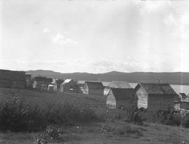 Fort Babine Indian village.