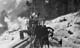 Kitselas. Construction Crew Along The Grand Trunk Pacific Railway
