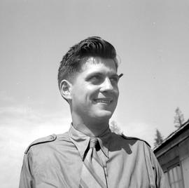 """Blackie"" Lennard, Foreman of camp #29, Morton Lake, B.C."