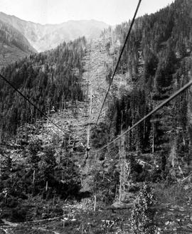 Lines for an aerial tramway.