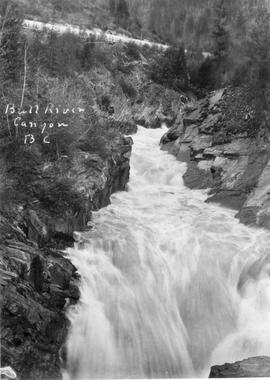 """Bull River Canyon, BC""; Department of Mines albums."