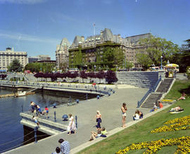 The Empress Hotel and the south end of the causeway on Victoria's Inner Harbour