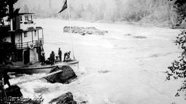 The SS Chilco, at Isle de Pierre Canyon, Nechako River.