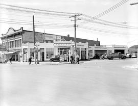 Horwood Brothers Service, northwest corner of Quadra Street at Yates, Victoria; Vogue Furniture H...