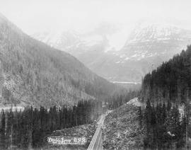 Double loop, Canadian Pacific Railway, Selkirk Mountains.
