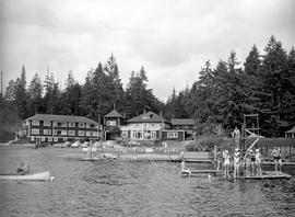 Scene At Shawnigan Beach Hotel.