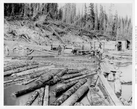 Lumberton. BC Spruce Mills Top End Of Logging Flume