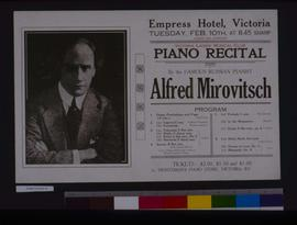 Piano recital, by the famous Russian pianist Alfred Mirovitsch