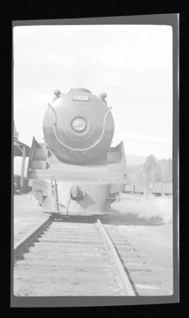2-10-4; Selkirk no. 5920, vertical format, full front, closeup, good detail, snowplow pilot, Reve...