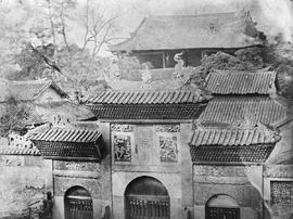 [Canton, China]  17 and 18.  Gates of a Joss house close by the south wall of the City and from t...