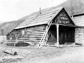 Chinese miners' quarters at Quesnelle Forks.