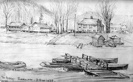 The Ferry - Sicamous [Showing Buildings And Boats]