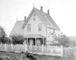 New Westminster home of Captain John Irving; Captain Irving later moved to James Bay on Vancouver...