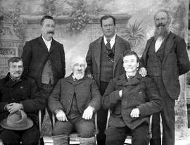 Left to right: standing, James Cummings, Fred Rock, Robert L. Shaw; sitting, Frank Guy, Robert Bo...