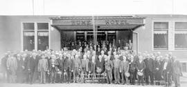 """Nelson and District Old Timers Association, May 12, 1932""; outsidew the Hume Hotel, Ne..."