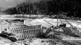 Construction of plant at Lower Bonnington Falls on the Kootenay River, West Kootenay Power and Li...