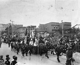 A parade on Government Street at Humboldt, Victoria