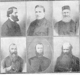 Missionary priests on Vancouver Island, left to right, top to bottom:  Reverend Casimir Chirouse,...