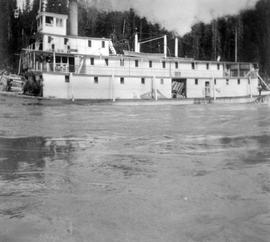 SS BC Express Just Leaving The Grand Canyon Area Of The Fraser River.