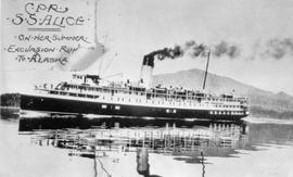 """CPR SS Alice on her summer excursion run to Alaska."""