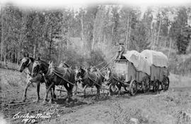 Freight  wagon on the Cariboo Road.