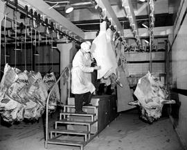 Meat Packing - Wrapping Beef