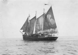 Unidentified sailing ship.