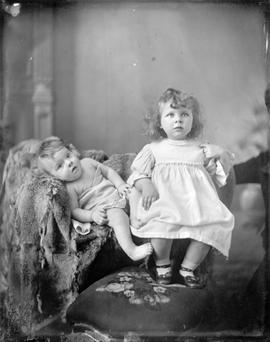 Portrait of unidentified children.