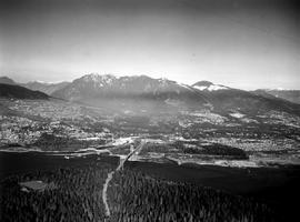 Aerial Of Vancouver Showing Lions Gate Bridge