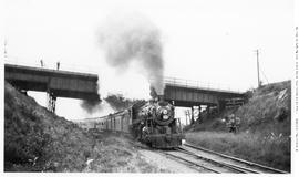 Canadian National Railway 2-8-0, No. 2434, Consolidation, 3/4 Right.  On Passenger, Outbound From...