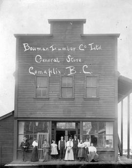 """Bowman Lumber Company Limited, General Store, Comaplix, BC""."