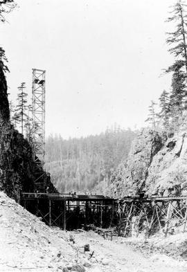"""Nanaimo Dam construction, 14th Aug 1931"", No. 30."