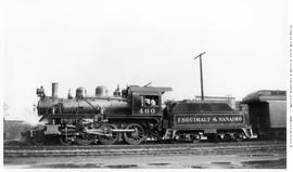 4-6-0 Esquimalt and Nanaimo [E & N] No. 460, Left broadside. Semi-closeup. [E & N] letter...